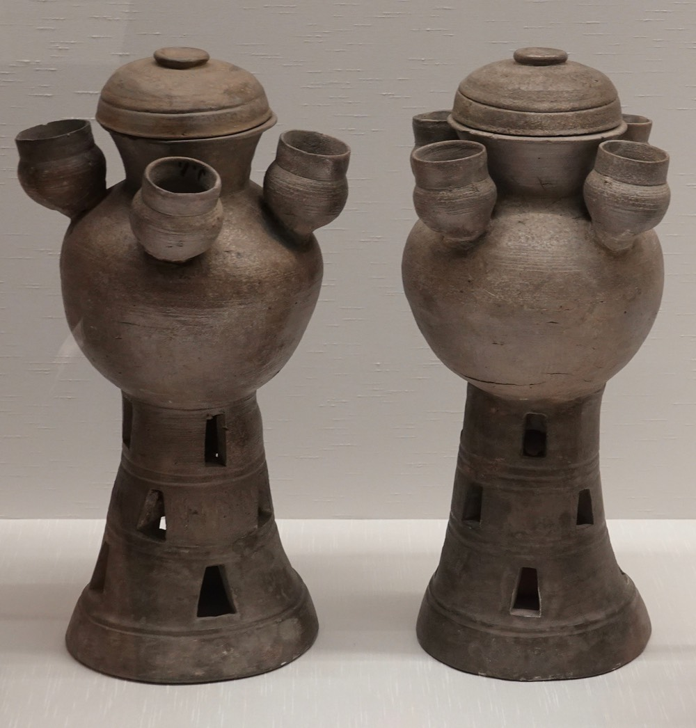 Pedestal Jars with Minature Jars and Lid copy